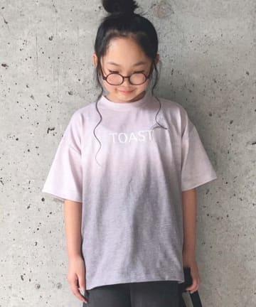 CIAOPANIC TYPY(チャオパニックティピー) 【KIDS】スラブグラデーションロゴプリントTEE