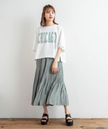NICE CLAUP OUTLET(ナイスクラップ アウトレット) サテンプリーツスカート