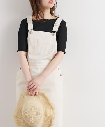 natural couture(ナチュラルクチュール) メローラメフライストップス