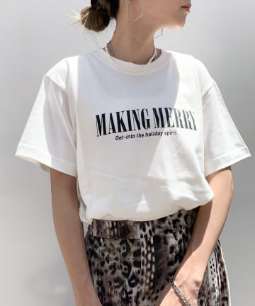 RASVOA(ラスボア) MERRY LOGO Tシャツ