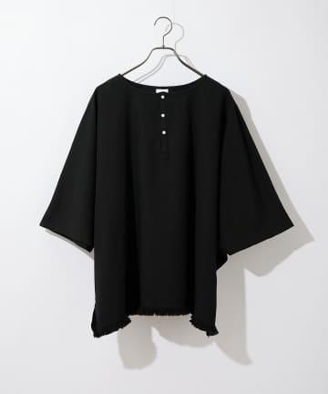 CIAOPANIC(チャオパニック) フリンジオーバーサイズポンチョTシャツ