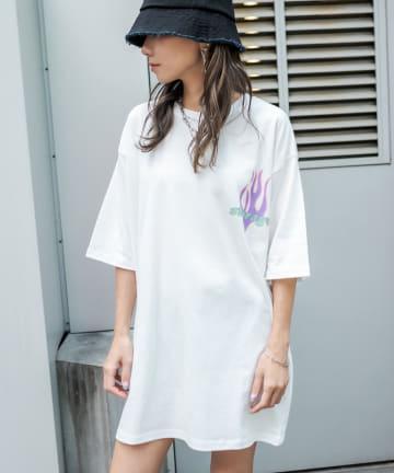 RASVOA(ラスボア) ファイヤーストレージTシャツ