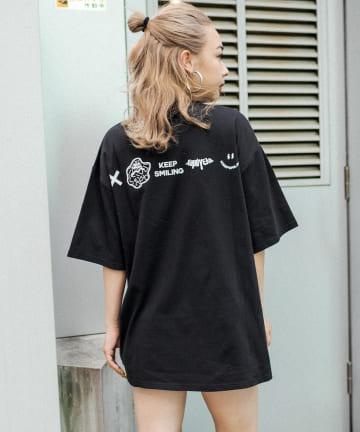 RASVOA(ラスボア) KEEP SMILING Tシャツ