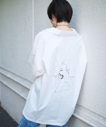 NICE CLAUP OUTLET(ナイスクラップ アウトレット) 【NUNIFE×Ran】RAN コラボシャツ