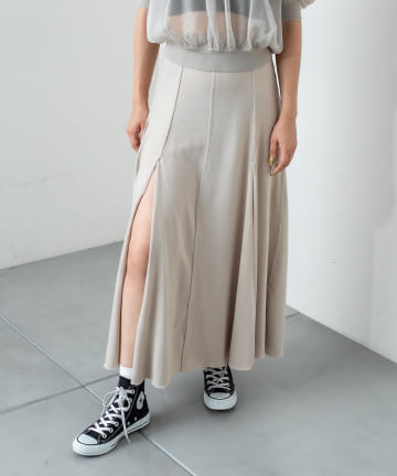 RASVOA(ラスボア) ハイスリットスカート