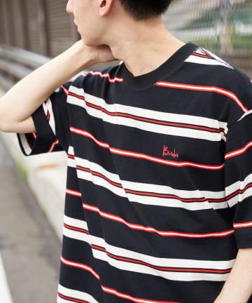 Discoat(ディスコート) 90'sマルチボーダーTシャツ
