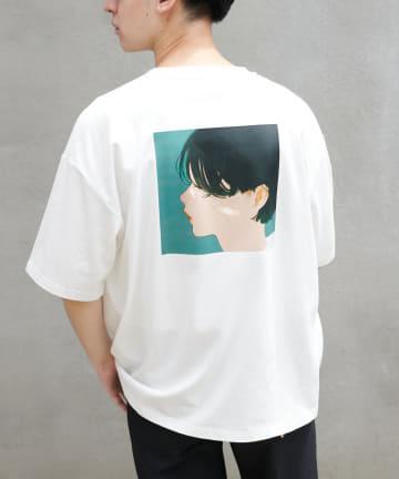Discoat(ディスコート) 【ユニセックスで着用可能】凪(なぎ)× Discoat コラボTシャツ