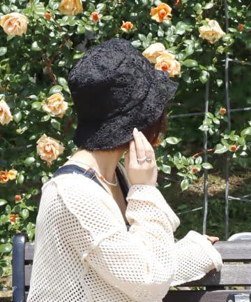 3COINS(スリーコインズ) 【ワタシの毎日を彩る】フラワーレースハット