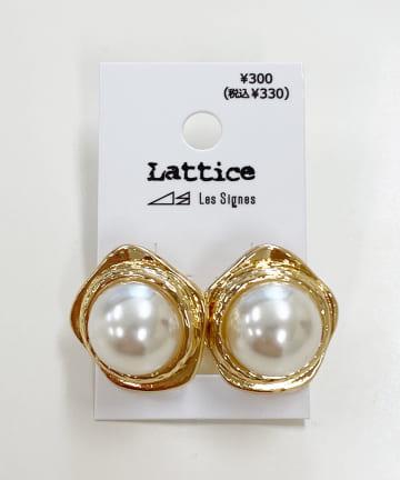 Lattice(ラティス) パールメタルイヤリング