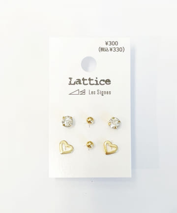 Lattice(ラティス) ハートモチーフSETピアス