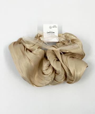Lattice(ラティス) サテン調BIGシュシュ×マルチリボン