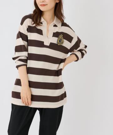 BONbazaar(ボンバザール) ウールボーダーラガーシャツ