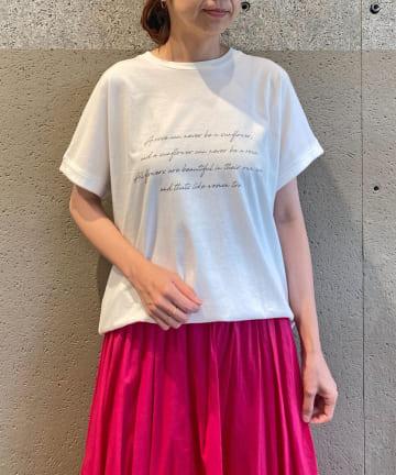 BONbazaar(ボンバザール) message Tシャツ