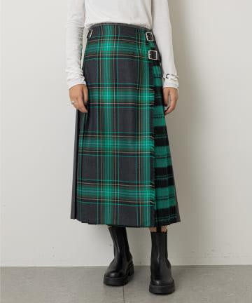Whim Gazette(ウィム ガゼット) 【O'NEIL of DUBLIN】パッチワークキルトスカート