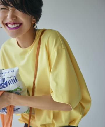 RIVE DROITE(リヴドロワ) 【神山まりあさんコラボ】ハイゲージバックフォルムTシャツ