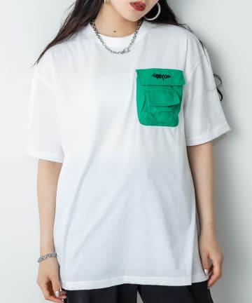 RASVOA(ラスボア) 立体ポケットTシャツ