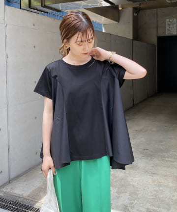 CAPRICIEUX LE'MAGE(カプリシュレマージュ) ドッキングフレアTシャツ