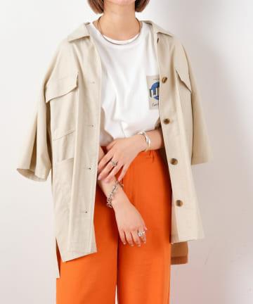 CIAOPANIC TYPY(チャオパニックティピー) リネン混ワークシャツジャケット