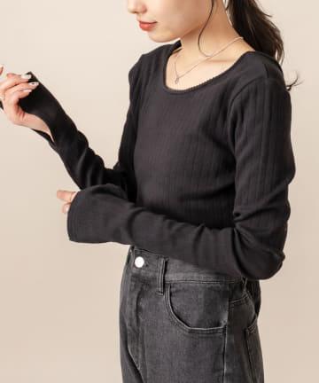 OUTLET(アウトレット) 【mystic】[mline] 針抜きショートTシャツ