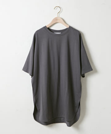 OUTLET(アウトレット) 【Discoat】後ろハギビッグTシャツ