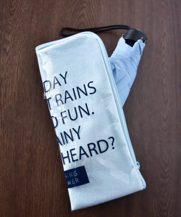 3COINS(スリーコインズ) 【Enjoy Rainy Days】PVC折りたたみ傘ポーチ