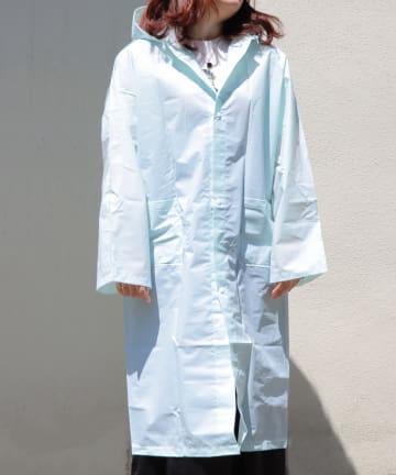 3COINS(スリーコインズ) 【Enjoy Rainy Days】バッグ付きレインコート【Lサイズ】