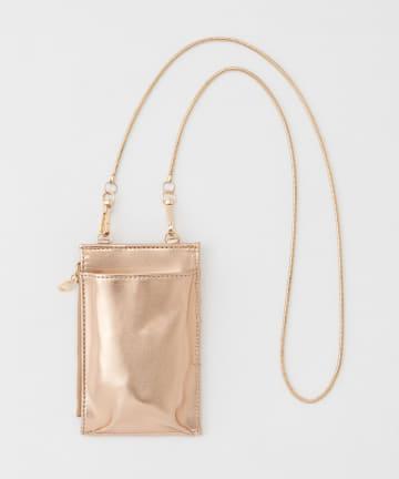 natural couture(ナチュラルクチュール) チェーンスマホショルダーバッグ