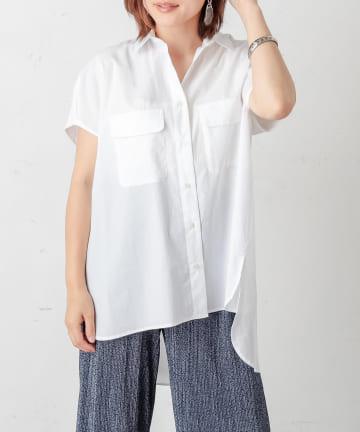 PLUS OTO.HA(プラス オトハ) 近江タイプライター フレンチシャツ