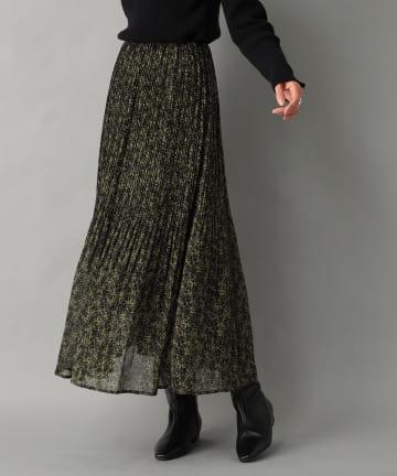 RIVE DROITE(リヴドロワ) 【しなやかで上品な印象】シフォン楊柳プリーツスカート