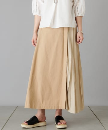 Pal collection(パルコレクション) 《チノ派orデニム派?》プリーツ切替スカート