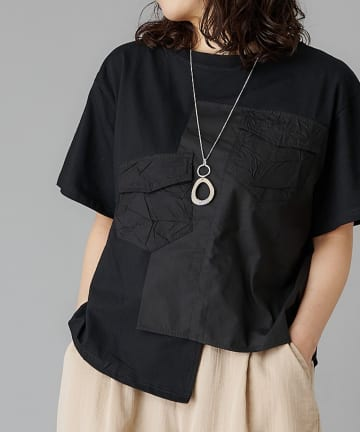 Pal collection(パルコレクション) 《定番Tシャツこそ、デザインで差を》くしゃポケットTシャツ