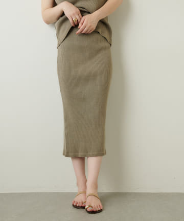 Whim Gazette(ウィム ガゼット) ピグメントカットタイトスカート