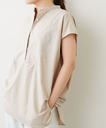 Whim Gazette(ウィム ガゼット) スタンドカラーBOXシャツ