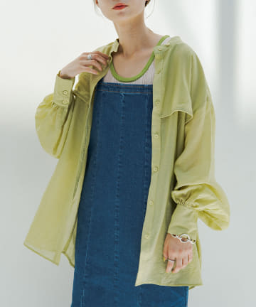 Kastane(カスタネ) フラップシアーBIGシャツ