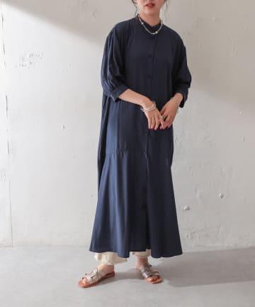 Discoat(ディスコート) 【WEB限定】裾フレアワンピース