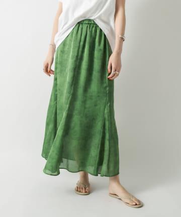 RIVE DROITE(リヴドロワ) 【日差しに映えるキレイ色】ドローイングフラワースカート