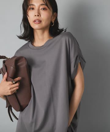 RIVE DROITE(リヴドロワ) 【体型カバーに嬉しい丈感】ロールアップチュニックTシャツ
