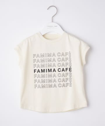 CIAOPANIC TYPY(チャオパニックティピー) 【KIDS】【FAMIMA CAFE】ロゴプリントノースリTee