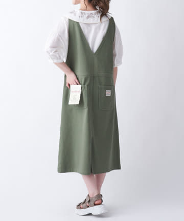 OLIVE des OLIVE OUTLET(オリーブ・デ・オリーブ アウトレット) ツイルサス付きジャンパースカート