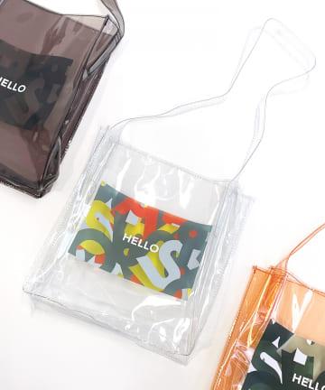 3COINS(スリーコインズ) 【ASOKO】<CAMOシリーズ>クリアバッグ