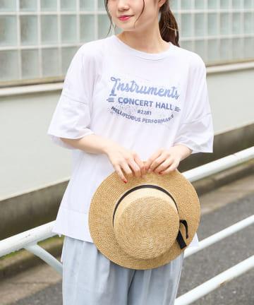 pual ce cin(ピュアルセシン) 【サステナブル】オーガニック天竺プリントTシャツ