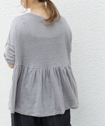 pual ce cin(ピュアルセシン) 【Dunoir】リネン天竺Tシャツ