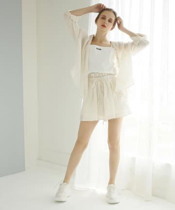 Seemi.by NICE CLAUP(シーミーバイナイスクラップ) キャミセットシャツ
