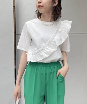 CAPRICIEUX LE'MAGE(カプリシュレマージュ) アシメフリルTシャツ