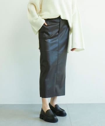 GALLARDAGALANTE(ガリャルダガランテ) エコレザータイトスカート