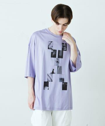 Lui's(ルイス) XフォトプリントBIGTシャツ