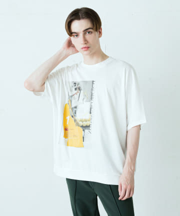 Lui's(ルイス) パールプリントドルマンBIGTシャツ