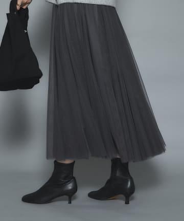 un dix cors(アンディコール) 《予約》【軽やかで女性らしい雰囲気に】ソフトチュールスカート