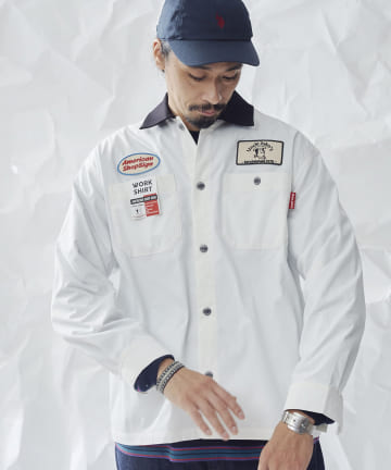 CPCM(シーピーシーエム) ツイルワーク長袖シャツ