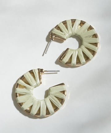 3COINS(スリーコインズ) ペーパーマキフープピアス